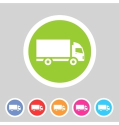 Cargo truck flat icon web sign symbol logo label vector