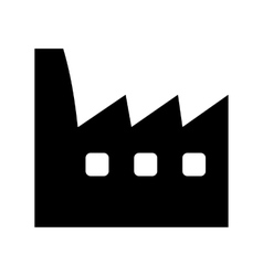 Factory black icon vector