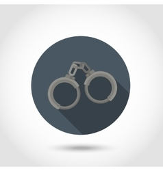 Handcuffs flat icon vector
