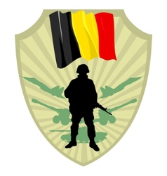 Army of belgium vector