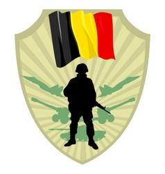 Army of Belgium vector image