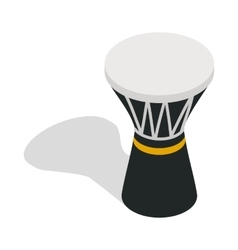 Darbuka percussive musical instrument icon vector