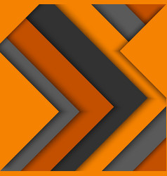 Abstract orange grey triangles background vector image vector image