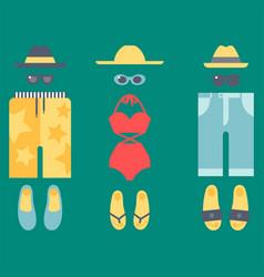 Beachwear bikini cloth fashion looks vacation vector