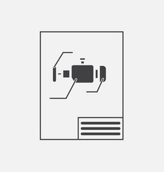 Black icon on white background motor circuit vector