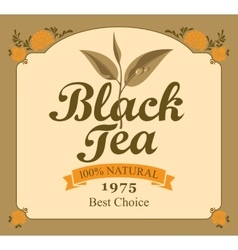 Black tea label vector