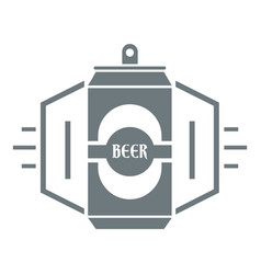 can beer logo simple gray style vector image vector image