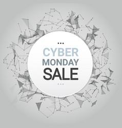 cyber monday sale poster design over futuristic vector image