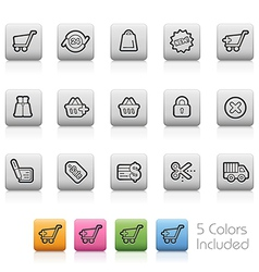 e-Shopping Buttons vector image