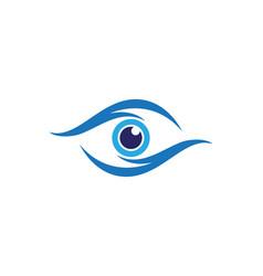 eye care logo design vector image vector image