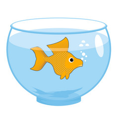 Goldfish in aquarium isolated magic marine animals vector