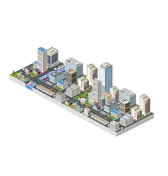 Large isometric city vector