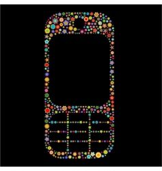 mobile phone shape vector image vector image