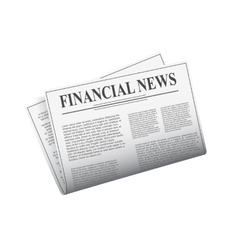 Newspaper isolated on white background vector image vector image