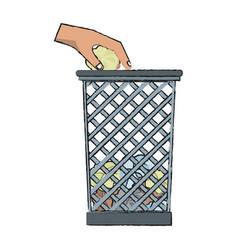 office paper bin vector image