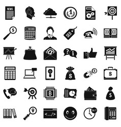 Online marketing icons set simple style vector