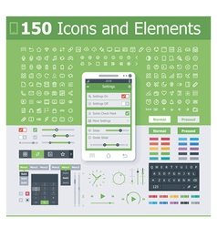 Operating system interface elements vector image