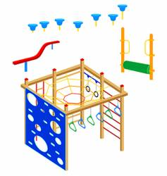 playground equipment vector image vector image