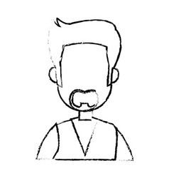 Portrait man cartoon business employee character vector