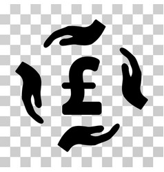 pound care hands icon vector image vector image