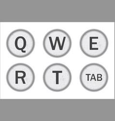 Typewriter keys qwert vector