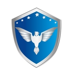 Wings emblem isolated icon vector
