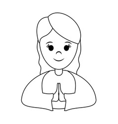 Woman wearing tunic cute cartoon icon image vector