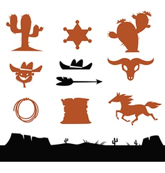 Cowboys set vector