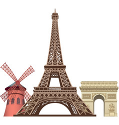 landmarks in paris vector image