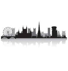 Bristol city skyline silhouette vector
