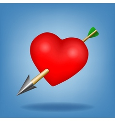 Red heart with arrow vector