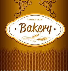 Bakery background design vector