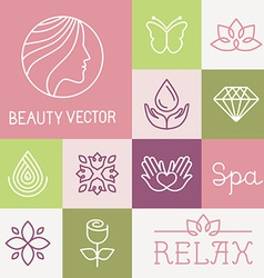 Spa and cosmetics logos vector