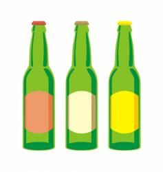 beer bottles set vector image