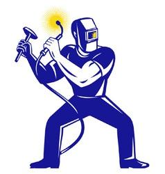 welder workman vector image