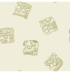 Seamless pattern with glyphs of the maya periods vector