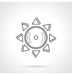 Abstract sun flat line icon vector