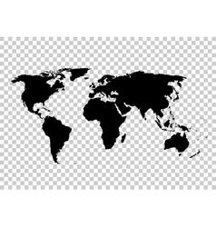 Black map World map blank World map vector image