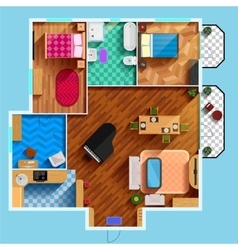 Architectural floor plan vector