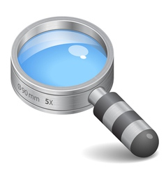 Icon for magnifying glass vector