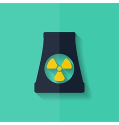 Atomic power station icon flat design vector