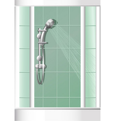 Bathroom shower vector