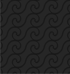 Black 3d horizontal spiral thin waves vector image