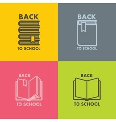 Book icon set for school vector image
