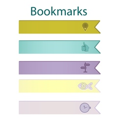 Bookmark icons pastel vector image vector image