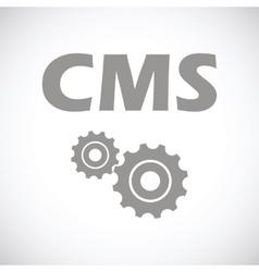 Cms black icon vector