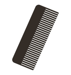 Comb silhouette isolated icon vector