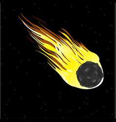 Comet in cosmos vector