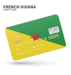 Credit card with french guiana flag background for vector