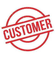 Customer rubber stamp vector